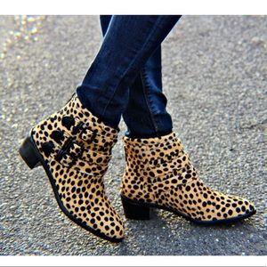 Loeffler Randall leopard booties
